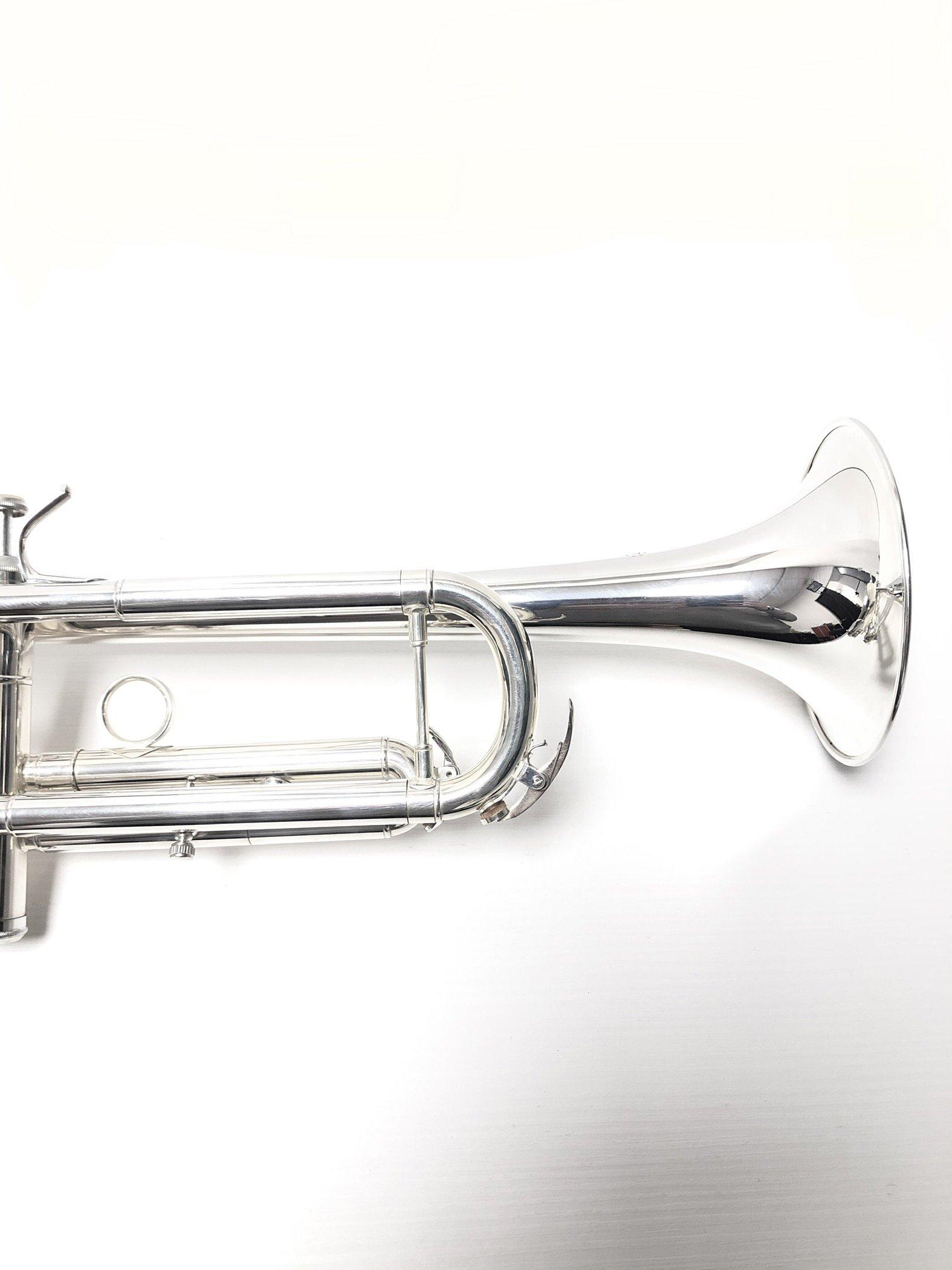"""6020 - Tromba Sib. L.A.RIPAMONTI """"MASTER"""" Argentata testa per galleria"""