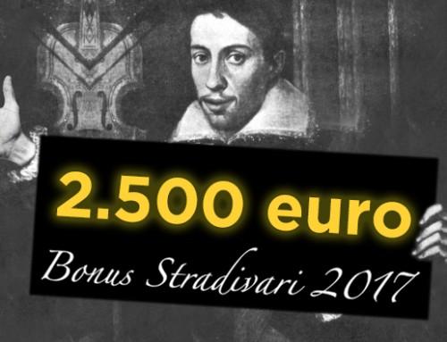 Bonus Stradivari 2017: dai fiato ai tuoi sogni. Prenota il tuo strumento, per te fino a 2.500 euro di sconto.