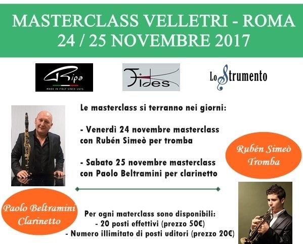 Masterclass Velletri Ripa Day clarinetto