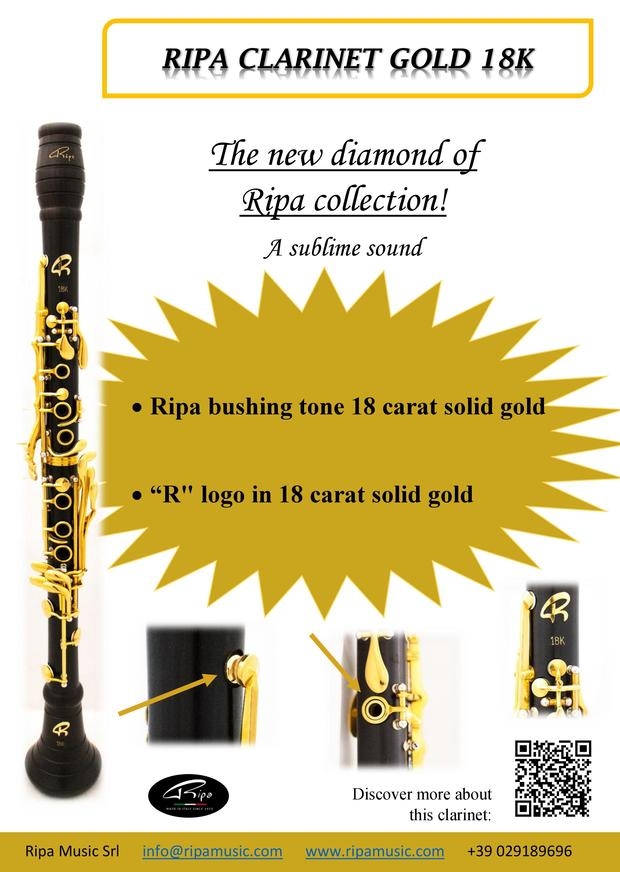 Ripa clarinet gold