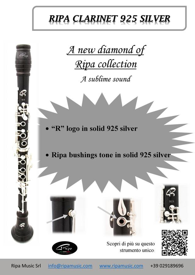 Ripa clarinet 925 silver
