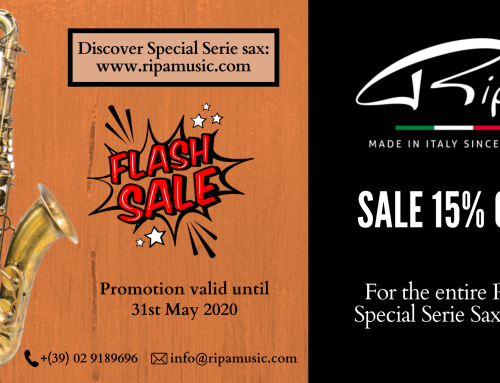 Special discount for the whole line of Ripa Special Series saxophones