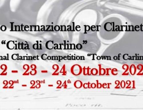 """19° CONCORSO INTERNAZIONALE PER CLARINETTO """"CITTA' DI CARLINO"""""""